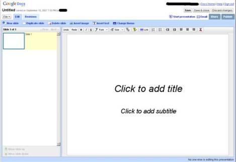 Google Presentations